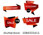 summer sale isolated vector... | Shutterstock .eps vector #1086531611