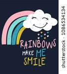 hand drawn rainbow with slogan... | Shutterstock .eps vector #1086534134