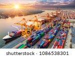 logistics and transportation of ... | Shutterstock . vector #1086538301