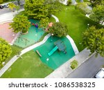 drone top view of playground in ... | Shutterstock . vector #1086538325