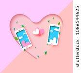 love couple concept.sending... | Shutterstock .eps vector #1086544625