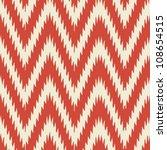 Simple seamless modern chevron zig zag pattern background | Shutterstock vector #108654515
