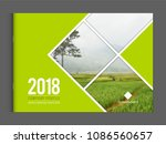 cover design for annual report... | Shutterstock .eps vector #1086560657