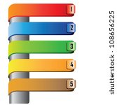 web elements  colorful step... | Shutterstock .eps vector #108656225
