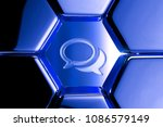 blue metallic comments icon in... | Shutterstock . vector #1086579149