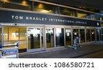 Small photo of LOS ANGELES, CALIFORNIA, USA - Oct 7, 2017 : The Tom Bradley International Terminal (TBIT) has 18 gates.