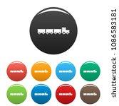 suburban train icon. simple... | Shutterstock .eps vector #1086583181