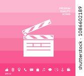 clapperboard icon symbol | Shutterstock .eps vector #1086602189