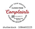 keep your mouths closed from... | Shutterstock .eps vector #1086602225