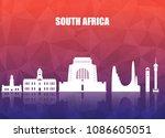 south africa landmark global... | Shutterstock .eps vector #1086605051