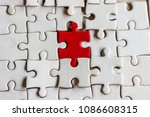a pieces of jigsaw puzzle will... | Shutterstock . vector #1086608315