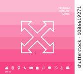 extend  resize  enlarge line...   Shutterstock .eps vector #1086619271