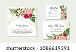 wedding invitation  invite ... | Shutterstock .eps vector #1086619391