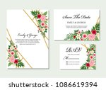 wedding invitation  invite ... | Shutterstock .eps vector #1086619394
