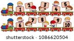 train with number one to ten... | Shutterstock .eps vector #1086620504