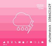 cloud thunderstorm lightning... | Shutterstock .eps vector #1086621629