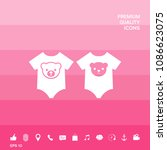 baby rompers icon | Shutterstock .eps vector #1086623075