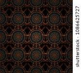 ikat damask seamless pattern...   Shutterstock .eps vector #1086625727