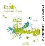 solar panel.illustration... | Shutterstock . vector #108662825