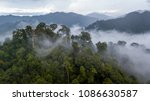 aerial view of mist  cloud and... | Shutterstock . vector #1086630587