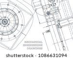 blueprint  sketch. vector... | Shutterstock .eps vector #1086631094