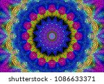 abstract kaleidoscope... | Shutterstock . vector #1086633371