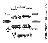 transportation icons set.... | Shutterstock .eps vector #1086633479