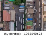 top view of street and parking...   Shutterstock . vector #1086640625