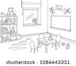 preschool classroom graphic... | Shutterstock .eps vector #1086643331