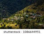 beautiful view of himalayan... | Shutterstock . vector #1086644951