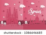 travel postcard and poster of... | Shutterstock .eps vector #1086646685
