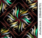 floral tapestry floral vector...   Shutterstock .eps vector #1086648701