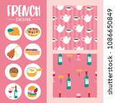 traditional french cuisine.... | Shutterstock .eps vector #1086650849