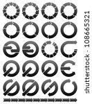 set of circular arrows icons... | Shutterstock . vector #108665321