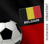 soccer theme with belgium... | Shutterstock . vector #1086655067