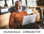 relaxing and working at home.... | Shutterstock . vector #1086660734