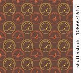 seamless pattern with... | Shutterstock .eps vector #1086671615