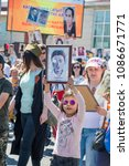 """Small photo of Bishkek, Kyrgyzstan - 09/05/2018: Day of victory of the Soviet Union over fascist Germany. 9th May. """"Immortal Regiment"""" in Kyrgyzstan"""