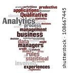 analytics word cloud concept | Shutterstock .eps vector #108667445