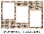 three white paper sheets with... | Shutterstock .eps vector #1086681251