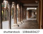 Old Arcades With Wooden Columns ...