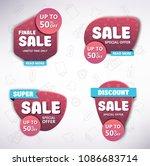 set of sale banners design.... | Shutterstock .eps vector #1086683714