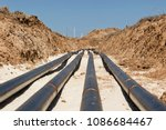 laying pipelines in a special... | Shutterstock . vector #1086684467
