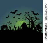 halloween vector background | Shutterstock .eps vector #1086689597