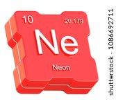 neon element symbol from... | Shutterstock . vector #1086692711