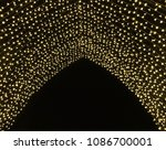 beautiful christmas lighting... | Shutterstock . vector #1086700001