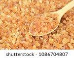 top view of natural rock sugar...   Shutterstock . vector #1086704807