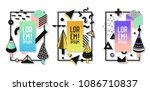 geometric frames with abstract... | Shutterstock .eps vector #1086710837