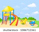 playground park cartoon vector... | Shutterstock .eps vector #1086712361