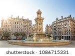 the famous fountain at 'place... | Shutterstock . vector #1086715331